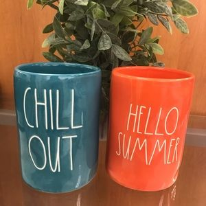 Rae Dunn CHILL OUT & HELLO SUMMER candles